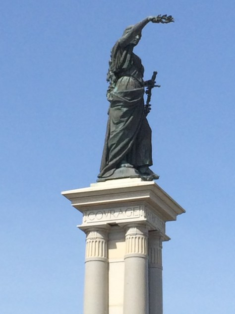 Victory, atop the Texas Heroes Monument in Galveston, TX