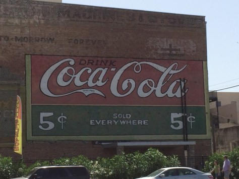 Old Coca-Cola sign in Strand Historic District