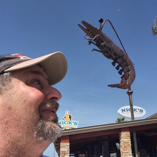 Giant Crawfish looms over Galveston