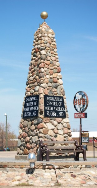 The Rugby Monument to the Geographical Center of North America