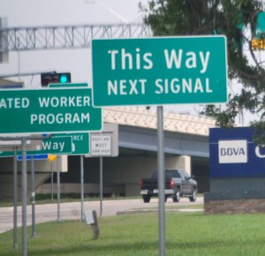 This Way is not until the next signal