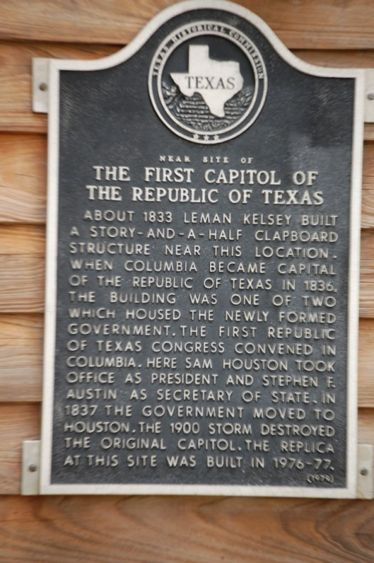 Historical Marker about West Columbia, TX