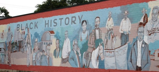West of the brazos bar and grill less beaten paths of for Black history mural