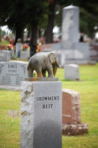 Showmen's Rest, a cemetery for circus workers in Hugo, Oklahoma