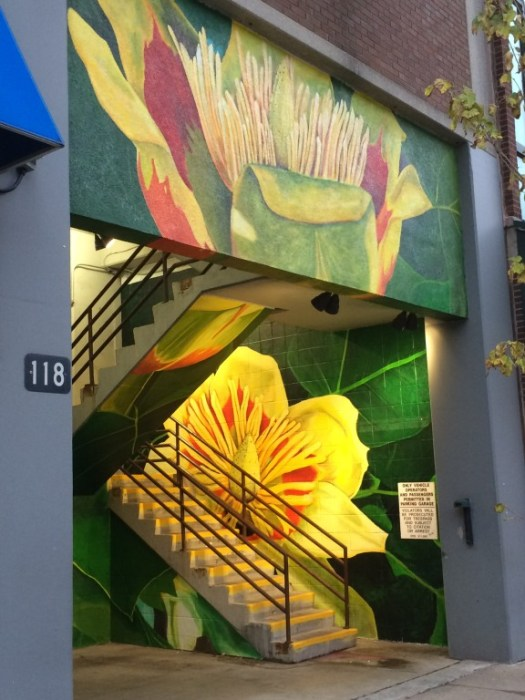 """Tulip Poplar"" by Lacy Hale, located at LexPark garage entrance near Broadway and Main"