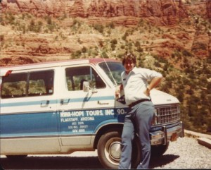 Sumoflam the Tour Guide in 1983 - taken in Arizona. Nava-Hopi was located in Flagstaff, AZ