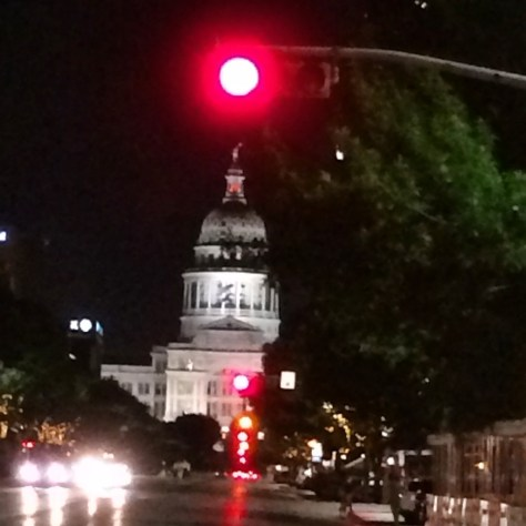 Stoplight over the capital