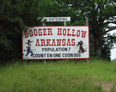 Welcome to Booger Hollow, Arkansas