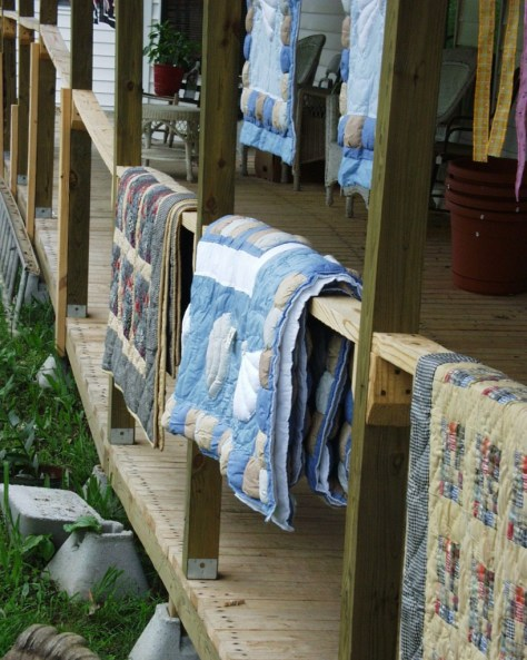 Hand Made quilts at Chigger Hollow