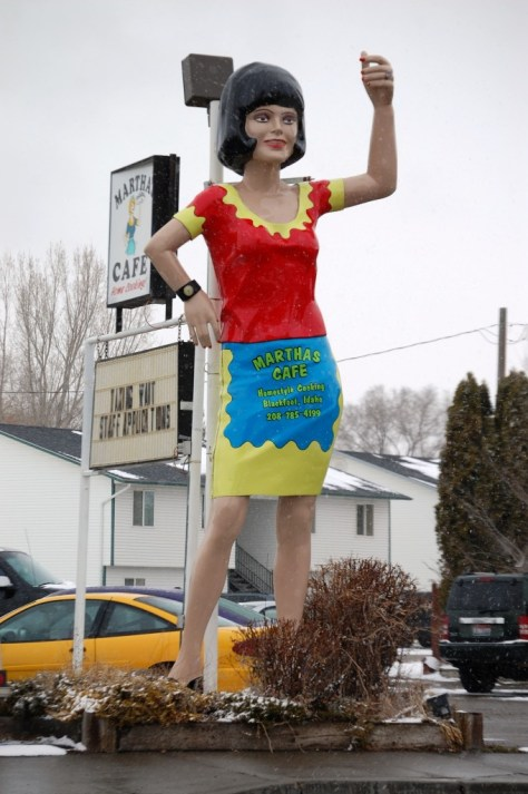 Uni-royal Gal - this one is now in a pose out front of Norma's Cafe in Blackfoot, ID