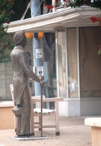 Statue of Three-Legeged Willie in Georgetown, TX