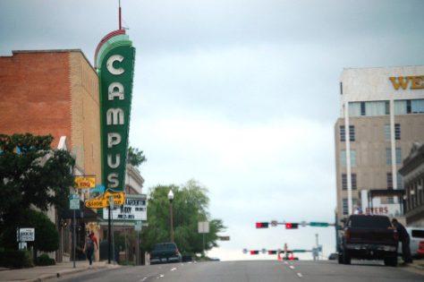 Campus Theatre Neon in Denton, TX