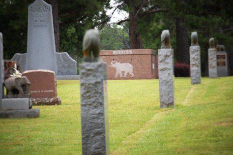 Elephant Posts at Showmen's Rest