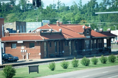 Old Mena Depot, now the Visitor's Bureau