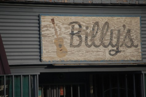 Billy's sign at Billy's House of Guitars, Glenwood, AR