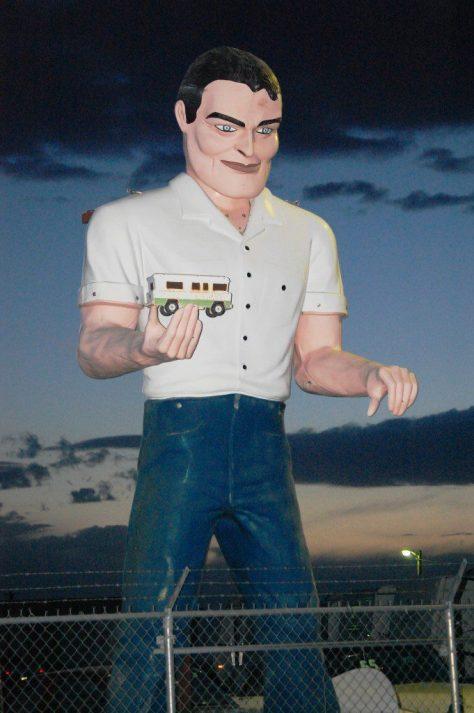 Muffler Man in Hatch, NM
