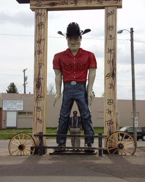 Cowboy Muffler Man - Big John in Great Falls, Montana