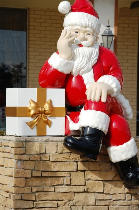A resting Santa, about 6 feet tall, Santa Claus, IN