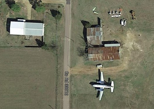 Google Satellite view of the Toco Airplane