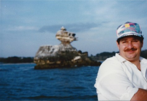 Visiting the Matsushima Islands near Sendai, Japan in 1990