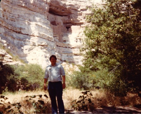 Visiting Montezuma Castle National Monument in Cottonwood, AZ in 1983.  I was a tour guide at the time