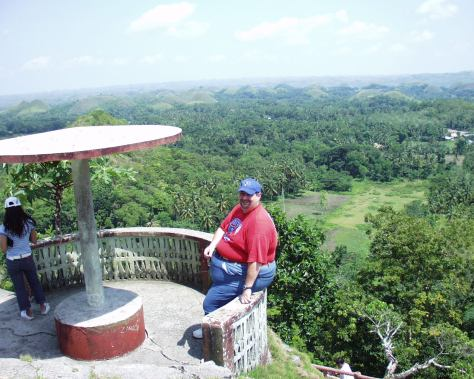 Chocolate Hills in Bohol, Philippines in 2007