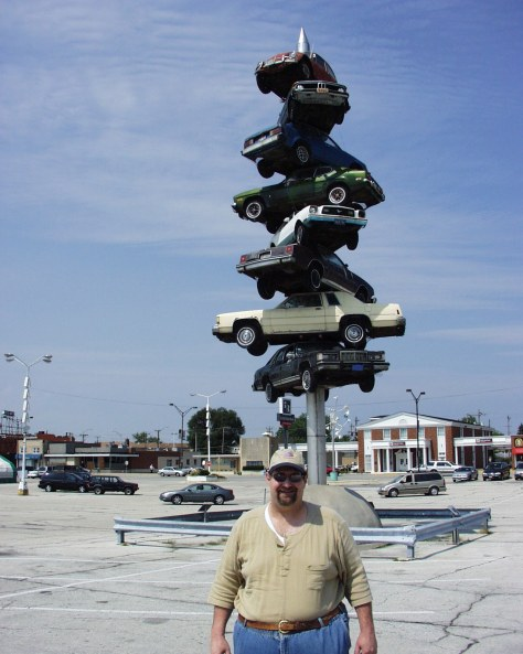 "The famed ""Spindle"" sculpture as seen in the movie Wayne's World.  Apparently, it wasn't worthy.  This was taken in 2007 and in 2008 it was torn down...meh"