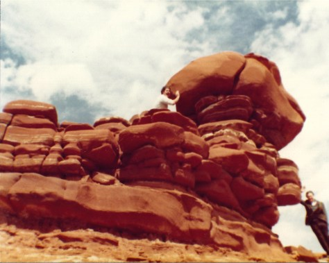 The red rocks near Tuba City, AZ look like someone stacked them.  This was taken in 1983