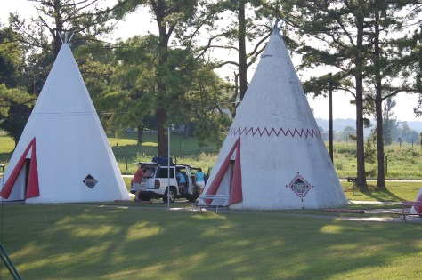 People staying at the Wigwams