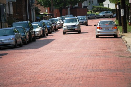Brick road - Murray Hill Road in Little Italy, Cleveland