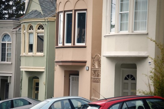Colorful houses along the streets of San Francisco