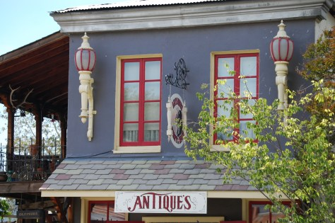 Old fashioned architecture on a shop in Upper Lake