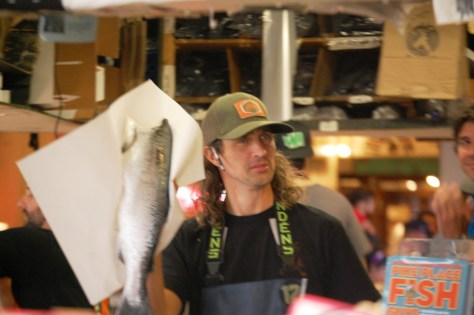 We've got fish at Pike Place Market