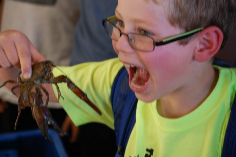 Another great shot of Charlie with a crawfish