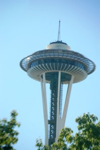 The Space Needle as seen from the Duck