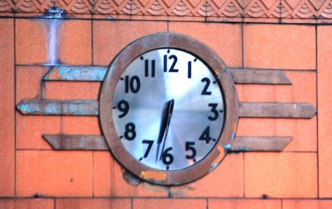 An Old Clock on a building