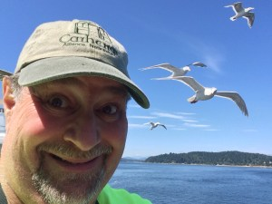 On the Bremerton Ferry with a Flock of Seagulls
