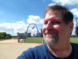 At the St. Louis Arch in Missouri