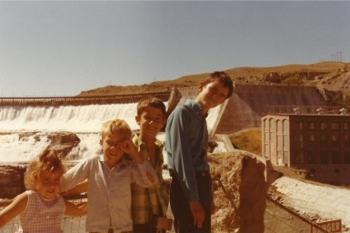 My brothers at the Great Falls of the Missouri River in Great Falls, MT in 1972