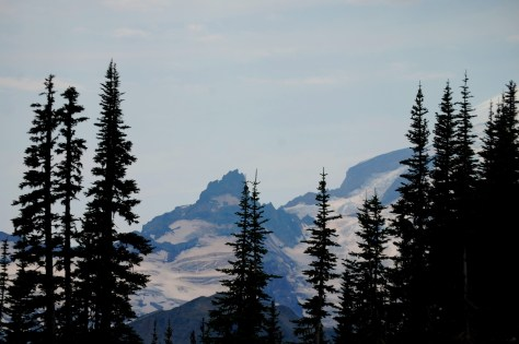 Cowlitz Chimneys as seen from Tipsoo Lake parking area