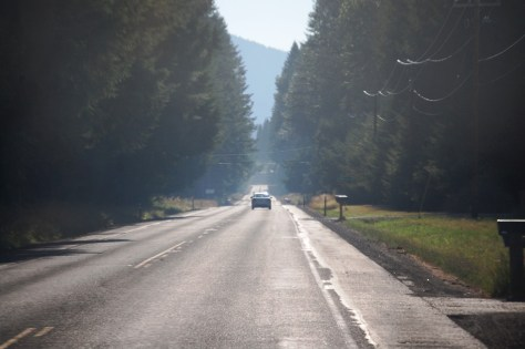 WA 123 heading to Elbe, WA