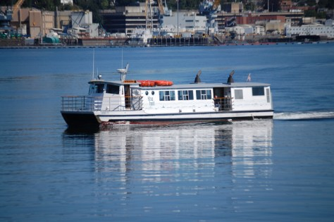 A Walk-on Ferry leaves Port Orchard