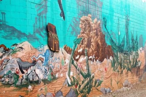 A second detail view of Port Orchard mural