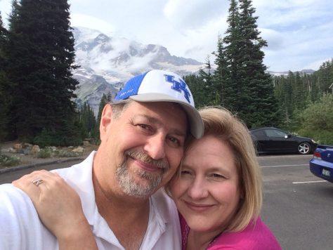 With my wife in Mt. Rainier National Park, Washington