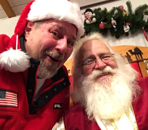 Sumoflam Santa with Santa Claus in Santa Claus, IN