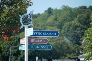 Mystic, CT signpost