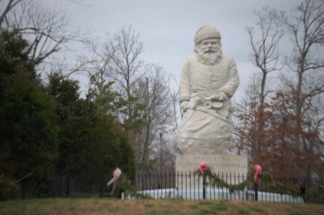 Santa Claus Statue near the Santa Claus Museum