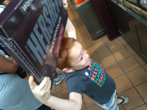 A candy bar the size of Landen!