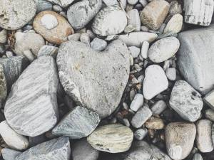 The beach left a heart for all of us as we left Maine. (photo by Marissa Noe)
