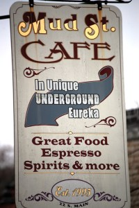 The unique and quaint Mud Street Cafe in Eureka Springs, AR